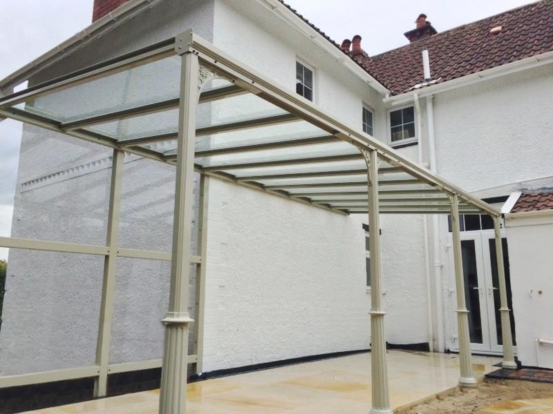 traditional style glass veranda