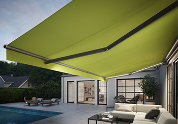 Retractable Awning with LED Line Lighting