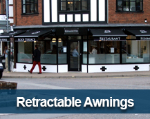 retractable awnings for shops
