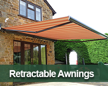 retractable awnings for the home and garden