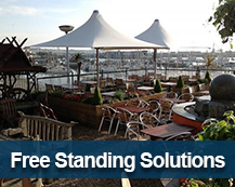 free standing canopy solutions