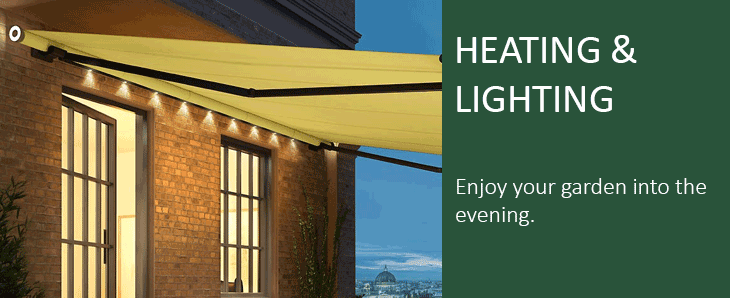 Awning Lighting Amp Patio Heaters Wall Mounted Or Awning