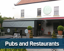 Canopies and Awnings for pubs and cafes