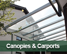 Glass Canopies and Polycarbonate Carports
