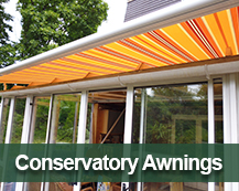conservatory awnings and vertical blinds