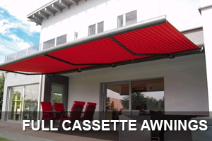full cassette retractable patio awning