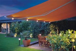 night LED lighting for your awning