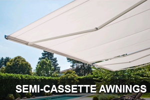 semi cassette retractable awning