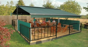 Butterfly Awning in Pub Garden
