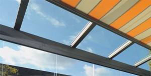 retractable conservatory roof blind for sun protection