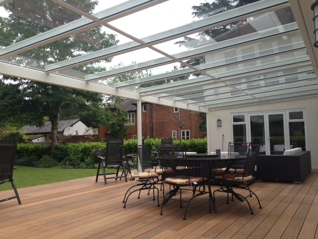 Terrazza Glass Veranda over decking