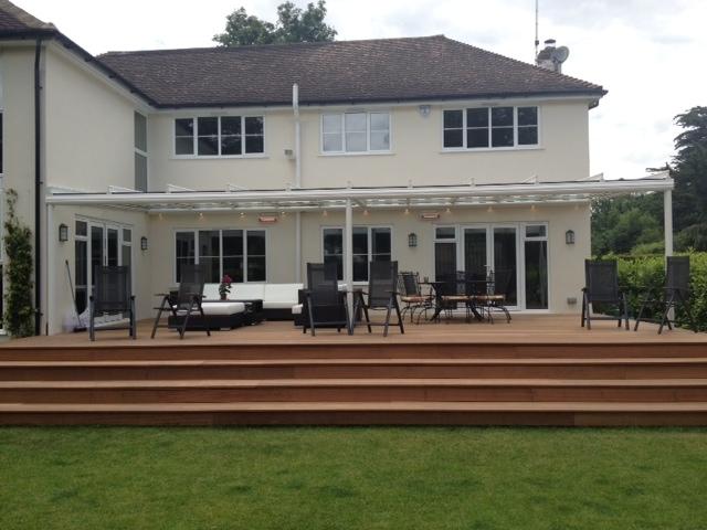 Terraza Glass Veranda over decking