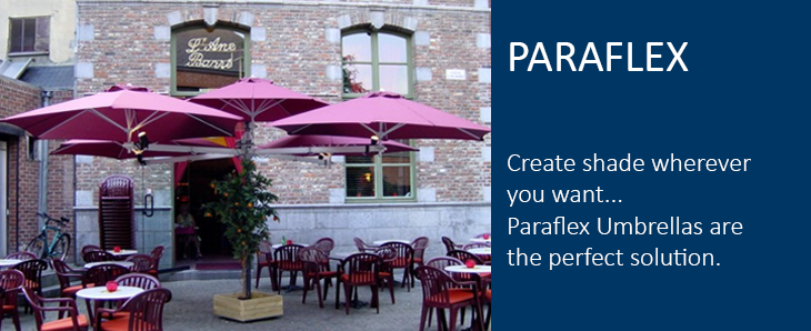 Paraflex side mounted umbrellas