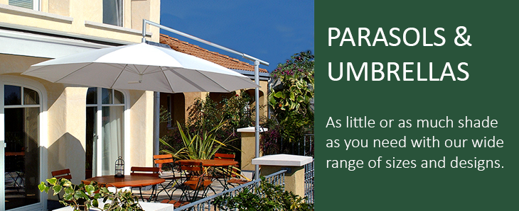 Parasols and umbrellas for the home and commercial use