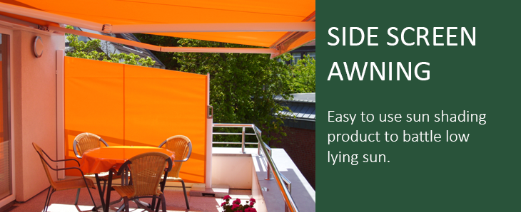 Side Screen Awning & Retractable Side Screens | Awning blinds Weinor Parvento ...