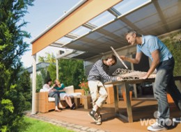 terrace cover glass veranda system