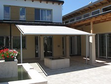 markilux pergola retractable fabric roof awning