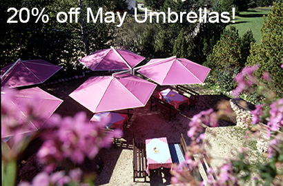 20% off May Umbrellas in August