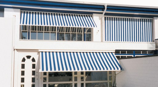 Weinor Aruba Drop Arm Window Awnings Installed On Offices