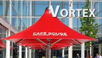 Vortex commercial umbrellas for outdoor cover