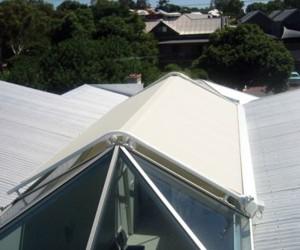 Markilux 8000 installed on angled skylight
