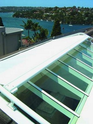 Markilux 8000 installed on office skylights
