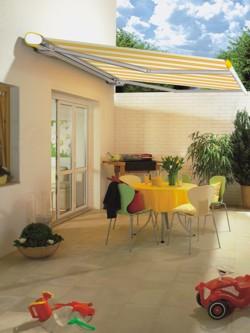 Orange Markilux 6000 Club patio awning