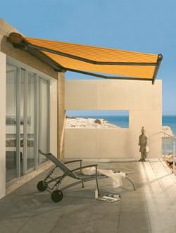Orange Markilux 6000 lounge patio awning