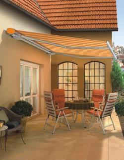 Orange Markilux 6000 Studio patio awning