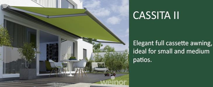 weinor cassita patio awning from samson awnings. Black Bedroom Furniture Sets. Home Design Ideas