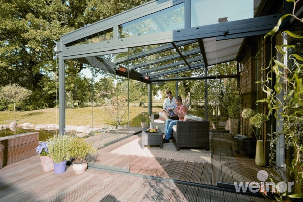 Garden glass rooms weinor patio covers verandas glass for Garten planen mit balkon zum wintergarten