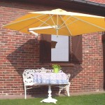 Paraflex Umbrella fixed against house wall