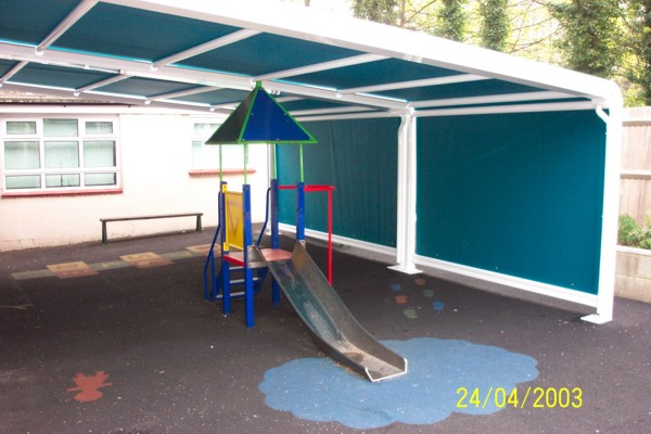 Patiola over outdoor play area