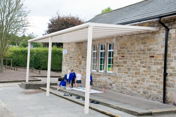 Piazza Terrace Cover installed in school