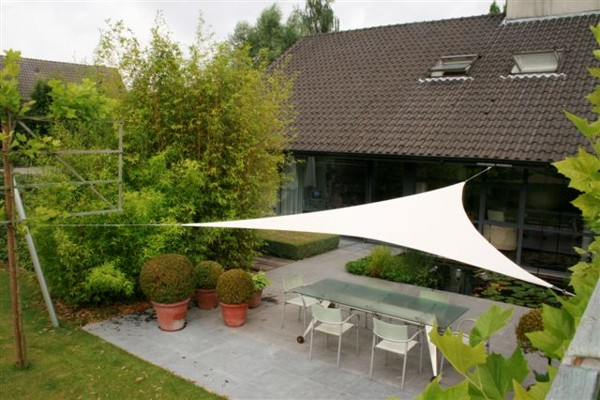 Ingenua shade sail over patio area