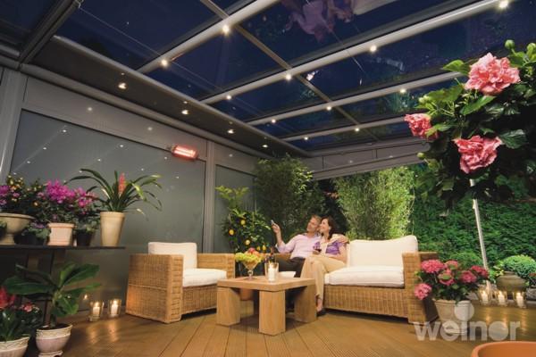 Terrazza Glass Veranda with heating and lighting