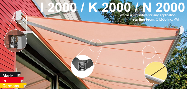Weinor N 2000 I 2000 Amp K 2000 From Samson Awnings