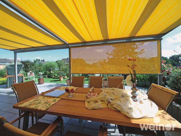 Weinor VertiTex vertical blind offering translucent shade