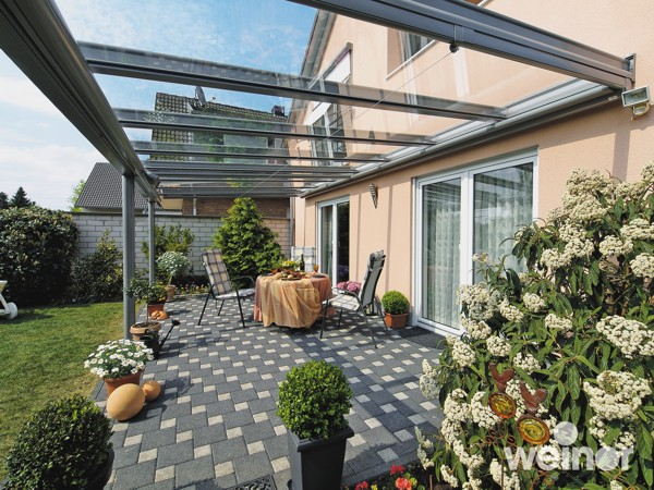 Weinor Terrazza terrace cover with glass roof
