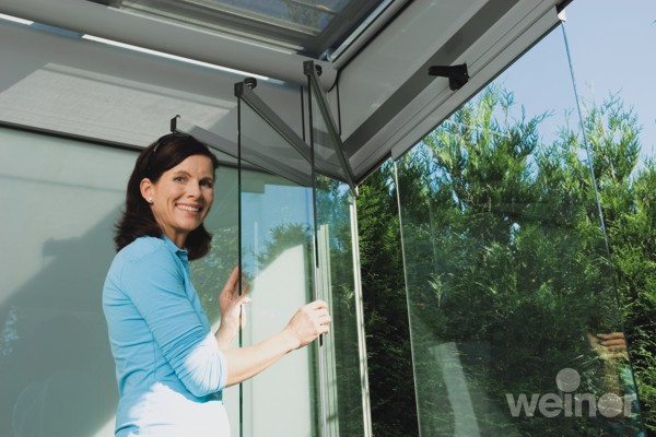 Weinor Terrazza folding glass side sections