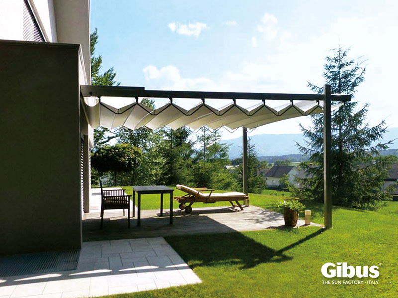 Gibus Retractable Fabric - Retractable Roof Systems Canopies Louvred Roof Samson Awnings