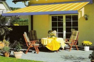 weinor semina patio awnign yellow
