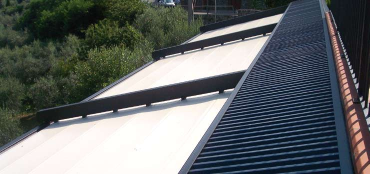 Gibus Roof system showing the fabric roof cover protection section