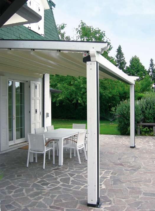 Gibus timber frame system in white finish