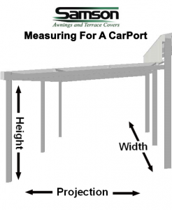 measuring for a carport