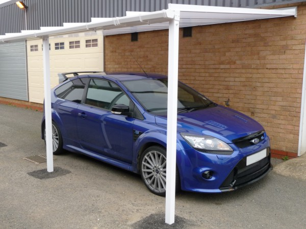 Samson Homestyle carport installed in our Wellingborough showroom