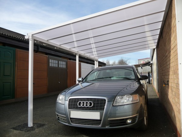 car ports with glass or polycarbonate roof
