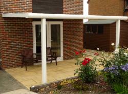 glass or polycarbonate veranda cover