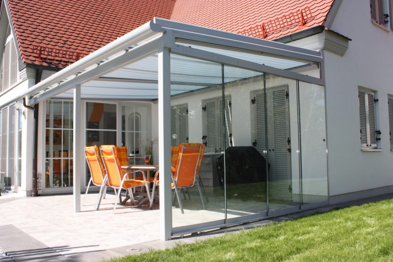 Terrazza Glass Verandas with side glazing