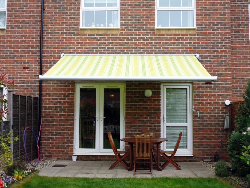 Green Striped Awnings